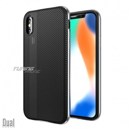 Кейс за Iphone X - Dual Cover /Carbon series/